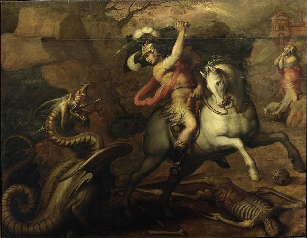 Saint George and the Dragon, c. 1560 by Giorgio Vasari (1511–1574)
