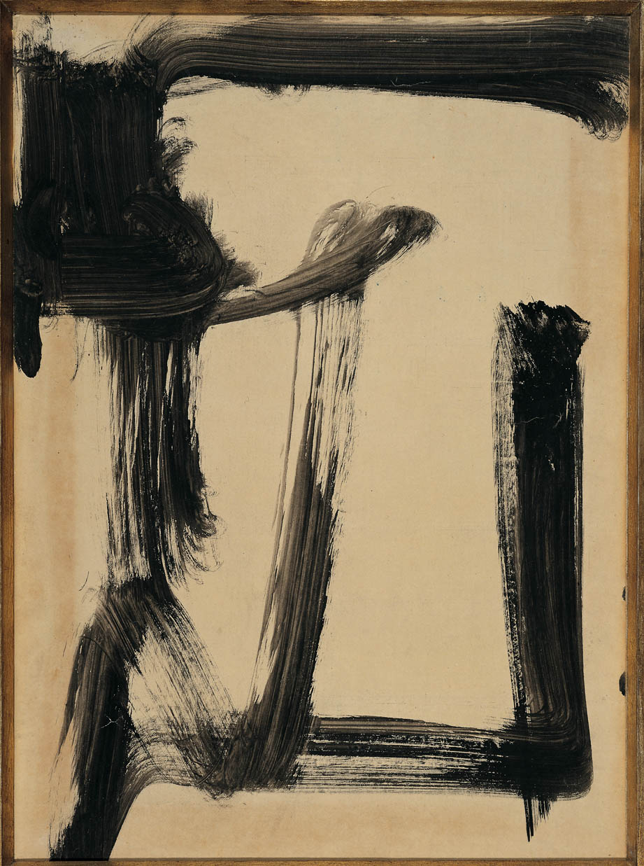 senza titolo, 1950,  tempera su carta, cm 60 x 43    untitled, 1950, tempera on paper, cm 60 x 43