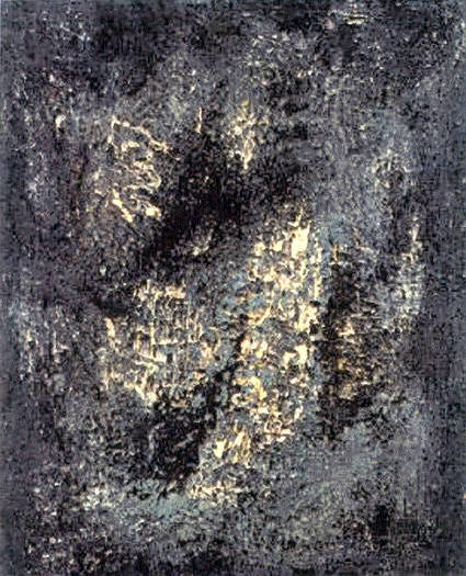 Immagine, 1957, olio e tecnica mista su tela, cm 110 x 90   Immagine, 1957, oil and mixed technique, cm 110 x 90