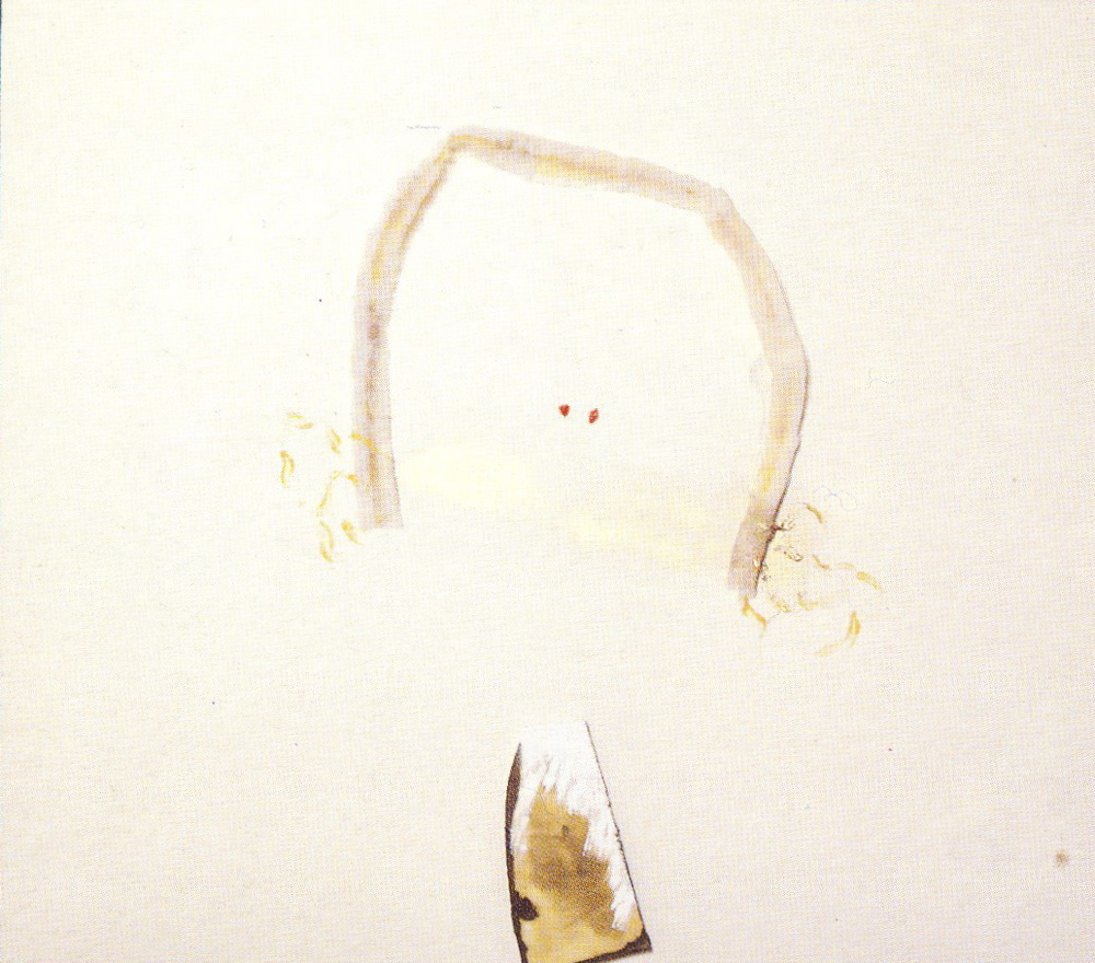 Dedicato a Gloria, 1975, polimaterico su tela, cm 140 x 160  Dedicato a Gloria, 1975, mixed media on canvas, cm 140 x 160