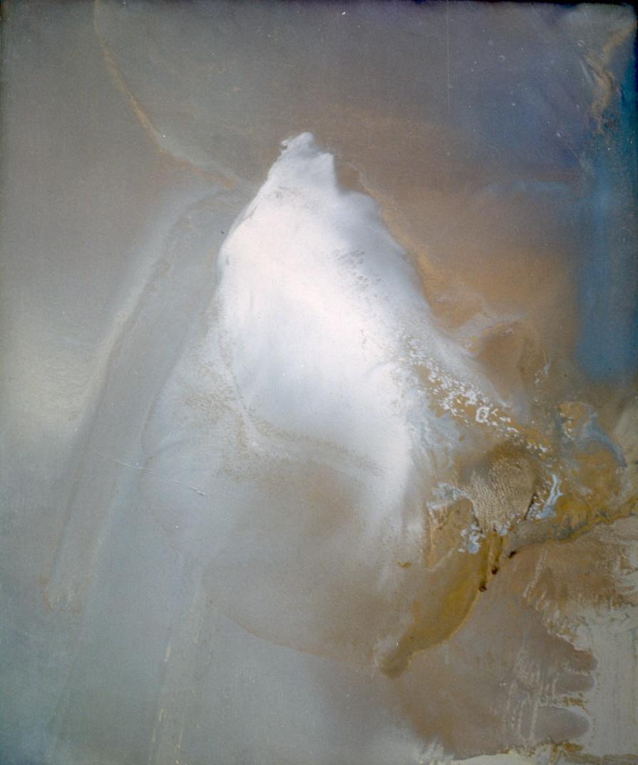 senza titolo, 1979, olio su lastra di alluminio, cm 66 x 55  untitled, 1979, oil on aluminium plate, cm 66 x 55