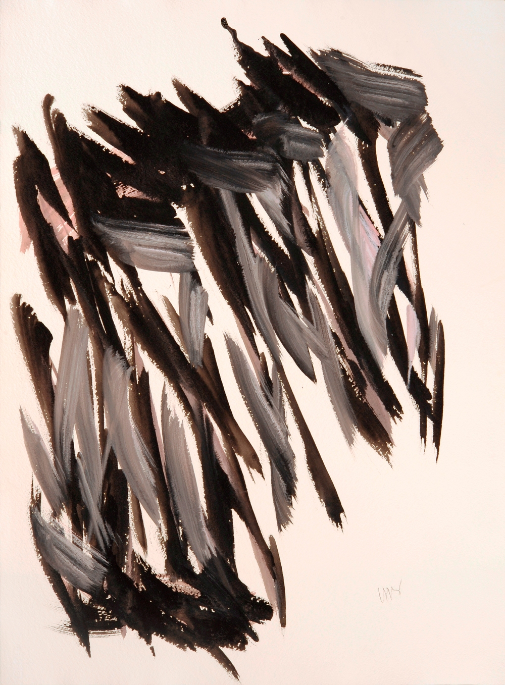 "senza titolo, dalla serie ""Gioco come gioco"", 1990, acrilico su carta Fabriano, cm 76 x 57   untitled, from the series ""Gioco come gioco"", 1990, acrylic on Fabriano paper, cm 76 x 57"