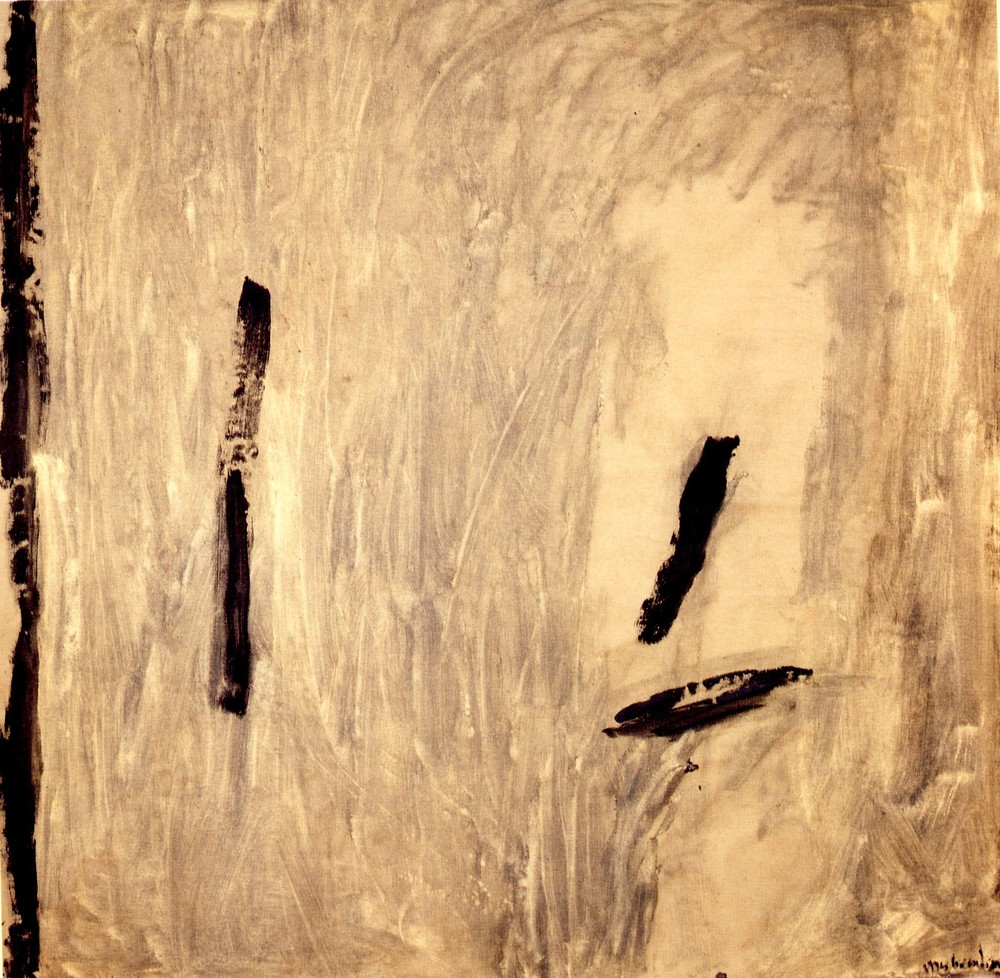 "senza titolo, dalla serie ""Ipotesi d'attesa"", 1990, tempera sintetica su tela, cm 208 x 208   untitled, from the series ""Ipotesi d'attesa"", 1990, synthetic tempera on canvas, cm 208 x 208"