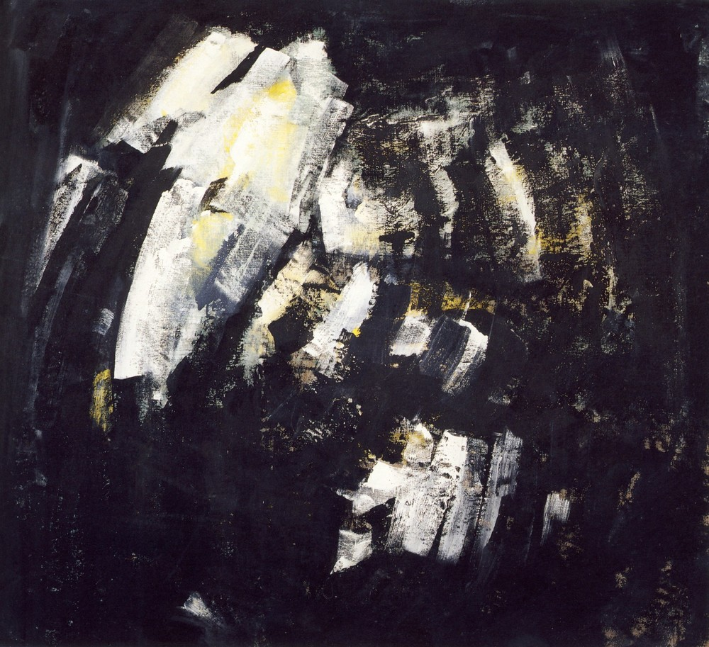 "senza titolo, dalla serie ""Ipotesi d'attesa"", 1991, tempera acrilica su tela, cm 180 x 198   untitled, from the series ""Ipotesi d'attesa"", 1991, acrylic tempera on canvas, cm 180 x 198"