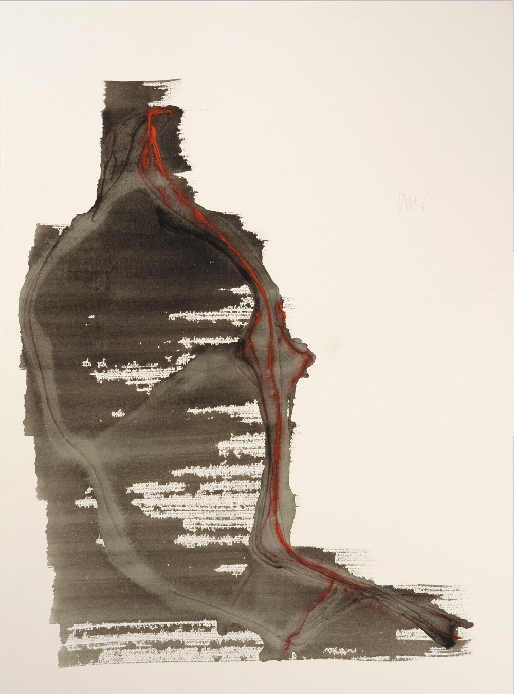 "senza titolo, dalla serie ""13 carte Fabriano"", 1992, acrilico su carta Fabriano, cm 76 x 57  untitled, from the series ""13 carte Fabriano"", 1992, acrylic on Fabriano paper,  cm 76 x 57"
