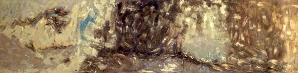 Il ciclo della natura, 1994, olio su tela, cm 200 x 800  Il ciclo della natura, 1994, oil on canvas, cm 200 x 800