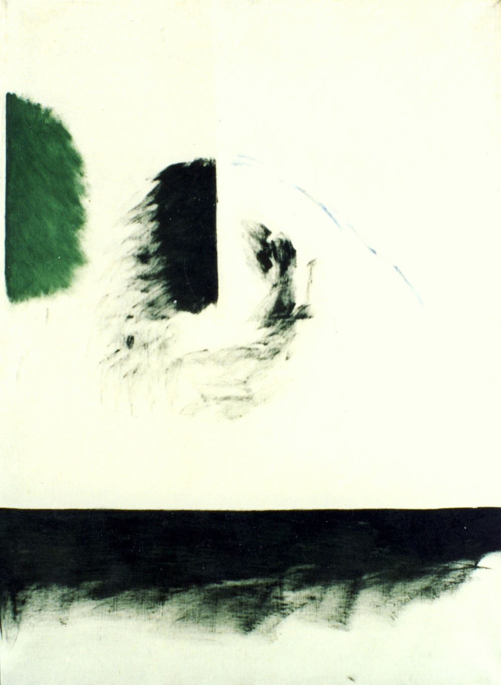 "senza titolo, dalla serie ""Ipotesi ultime"", 1963, olio su tela, cm 130 x 97   untitled, from the series ""Ipotesi ultime"", 1963, oil on canvas, cm 130 x 97"