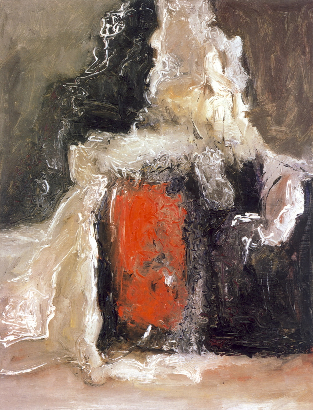 senza titolo, 1964, olio su tela, cm 92 x 73    untitled, 1964, oil on canvas, cm 92 x 73