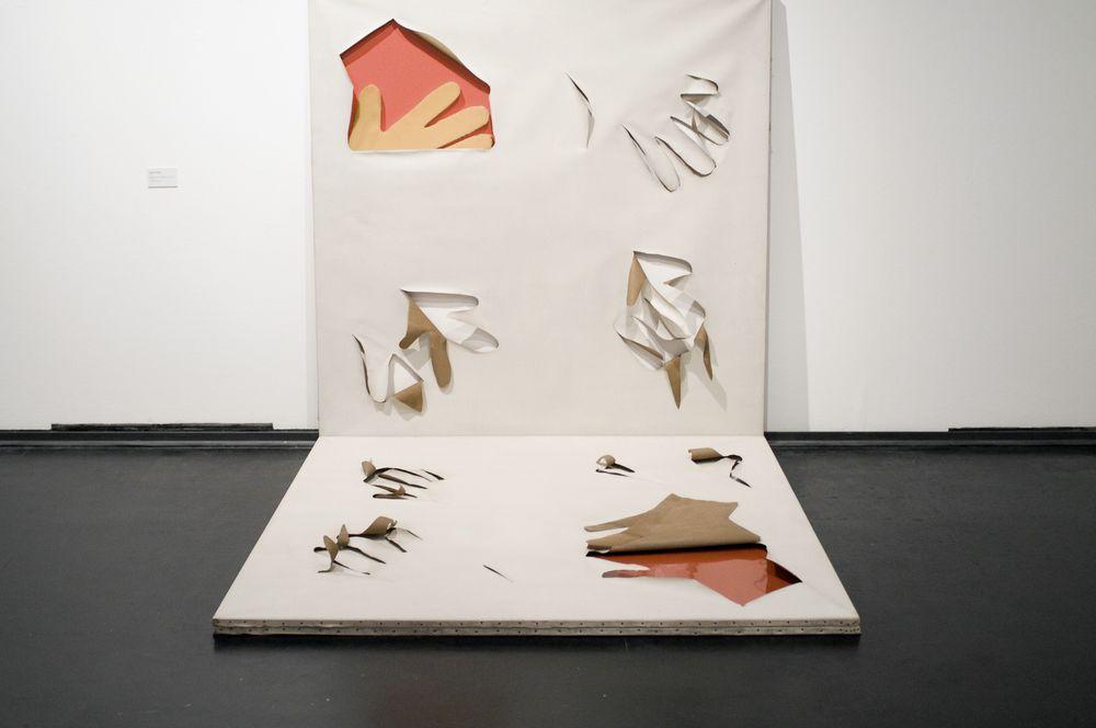 Quadro per Momi, 1967, doppi telai in legno, cm 190 x 190  Quadro per Momi, 1967, double wooden casement, cm 190 x 190