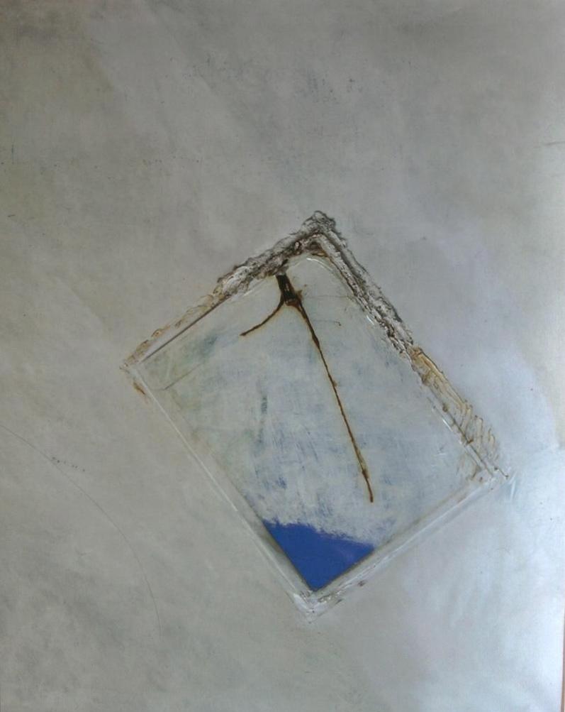 Memoria di specchio,1977,polimaterico su tela, cm 160 x 140  Memoria di specchio,1977,mixed media on canvas, cm 160 x 140
