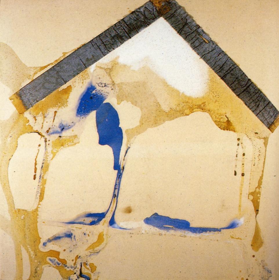 Annunciazione, 1980, polimaterico su tela, cm 150 x 150  Annunciazione, 1980, mixed media on canvas, cm 150 x 150