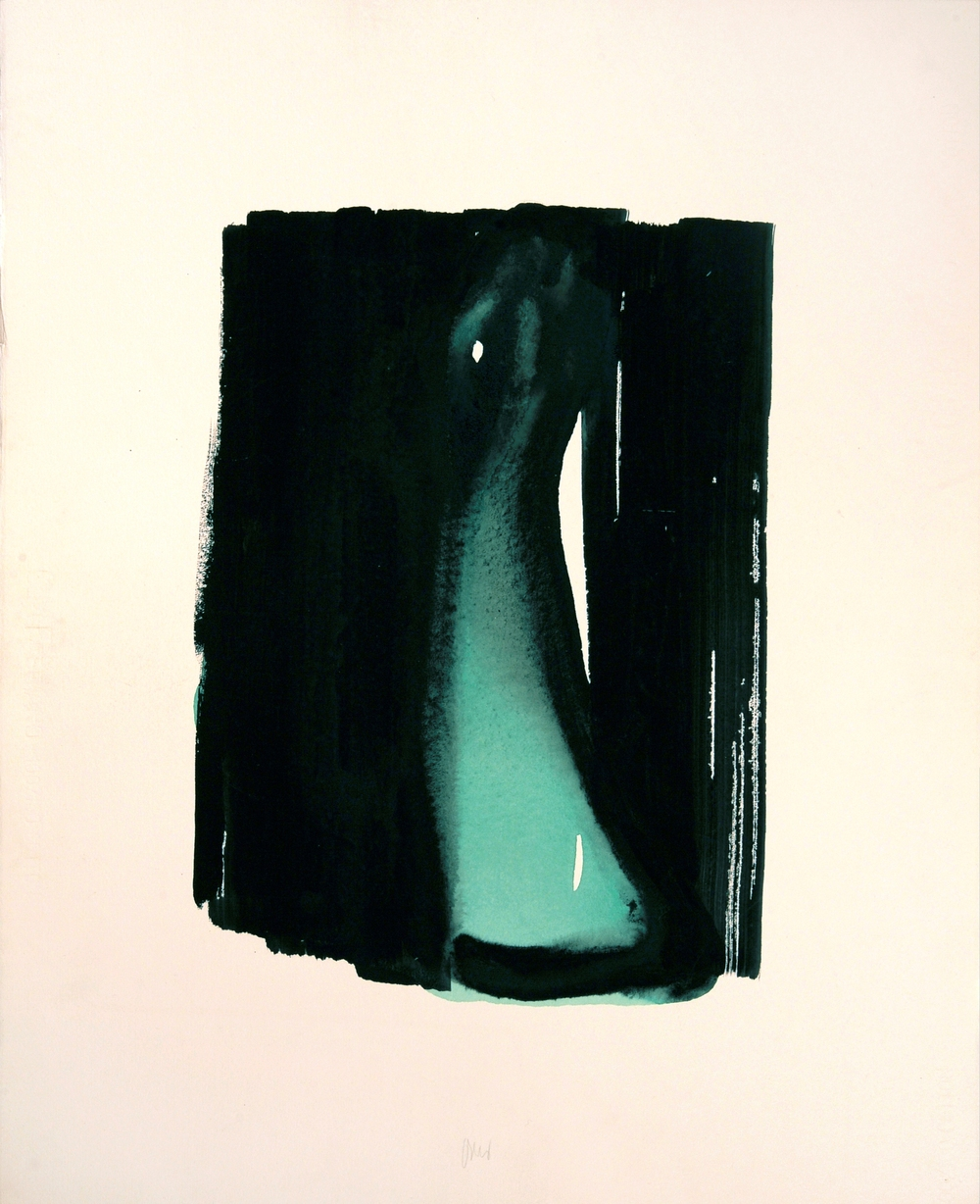 "senza titolo, dalla serie ""13 carte Fabriano"", 1995, acrilico su carta Fabriano, cm 76 x 57  untitled, from the series ""13 carte Fabriano"", 1995, acrylic on Fabriano paper, cm 76 x 57"