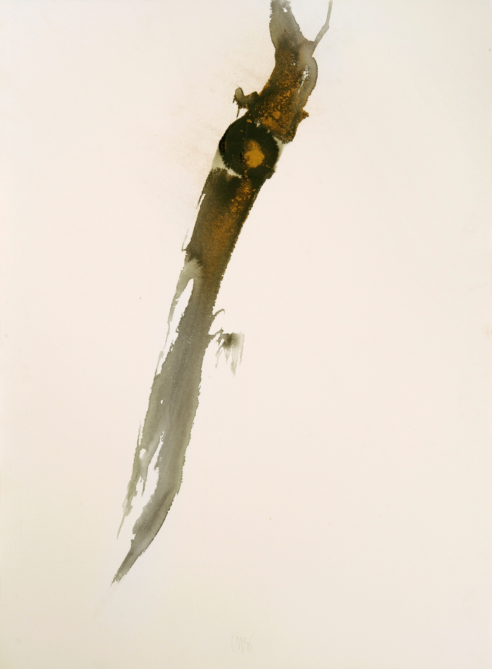 "senza titolo, dalla serie ""Epifania dell'innocenza"", 1992, acrilico su carta Fabriano, cm 76 x 57  untitled, from the series ""Epifania dell'innocenza"", 1992, acrylic on Fabriano paper, cm 76 x 57"