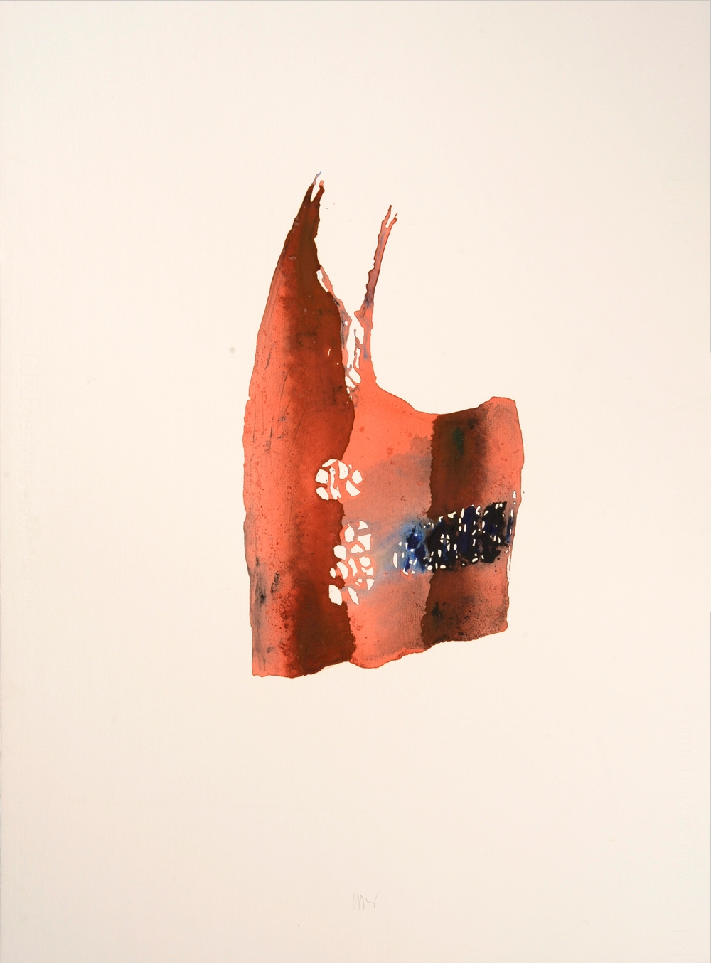 "senza titolo, dalla serie ""Pagine sparse"", 1995, acrilico su carta Fabriano, cm 76 x 57  untitled, from the series ""Pagine sparse"", 1995, acrylic on Fabriano paper, cm 76 x 57"