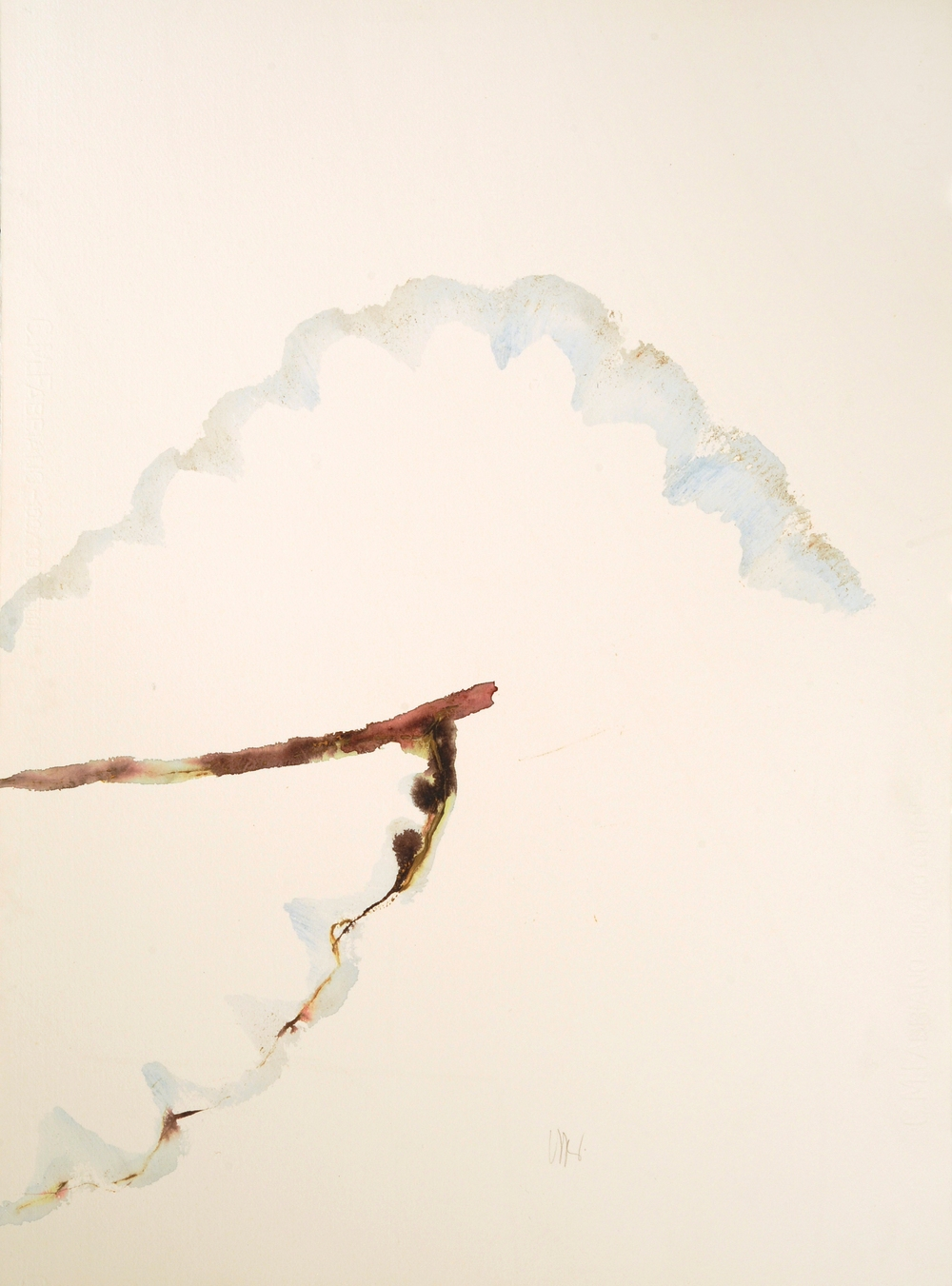 "senza titolo, dalla serie ""Signatura rerum"", 1992, acrilico su carta Fabriano, cm 76 x 57  untitled, from the series ""Signatura rerum"", 1992, acrylic on Fabriano paper, cm 76 x 57"