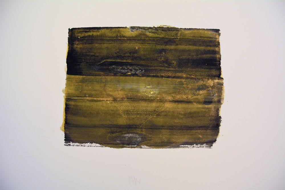"""senza titolo, dalla serie """"Il nero si immagina', 2001,tempera acrilica su carta Fabriano, cm57 x 76  untitled, from the series """"Il nero si immagina"""",2001, acrylic on Fabriano paper, cm57 x 76"""