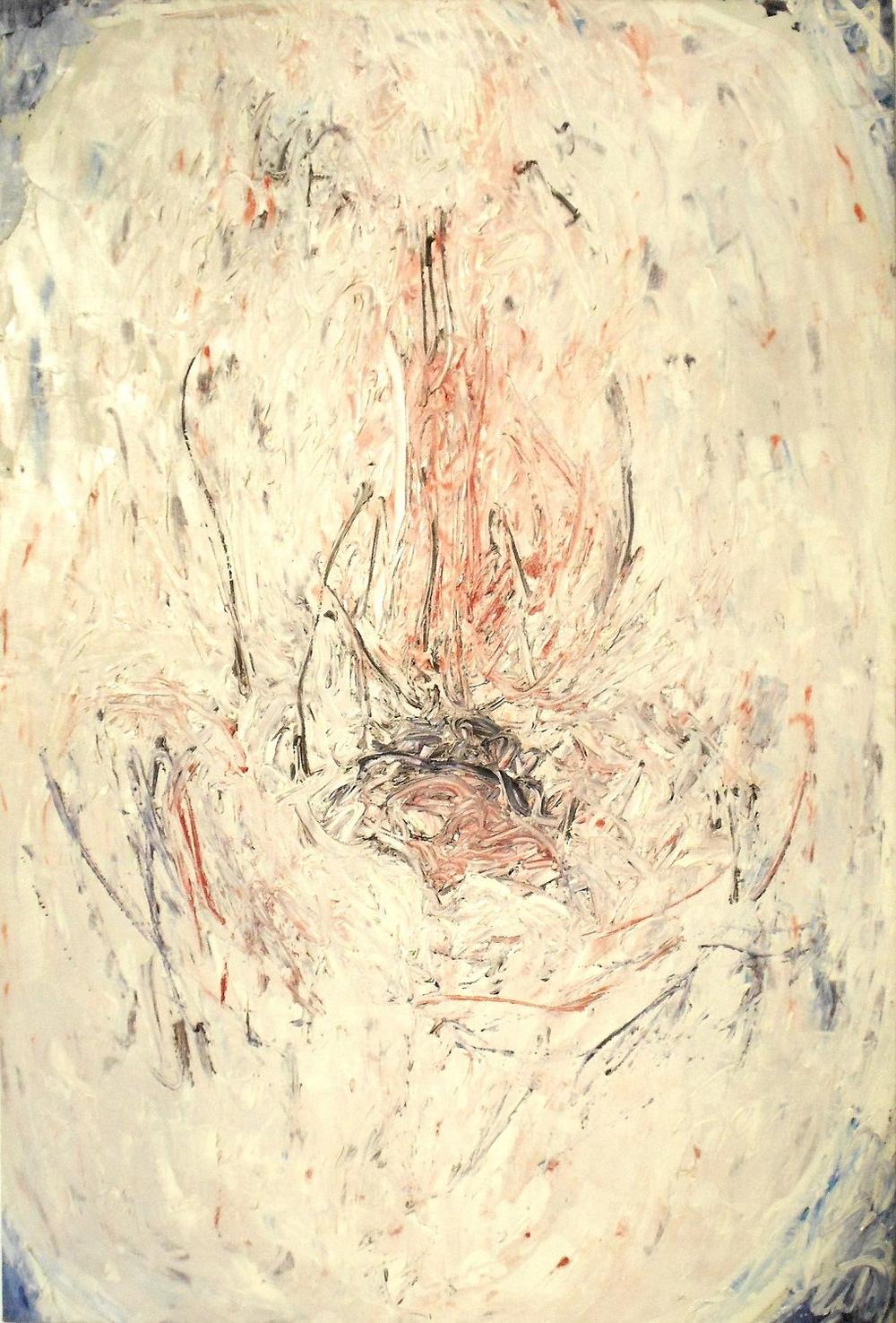 Pazzia e morte. Esperienza prima, 1963, olio su tela, cm 110 x 74   Pazzia e morte. Esperienza prima, 1963, oil on canvas,cm 110 x 74