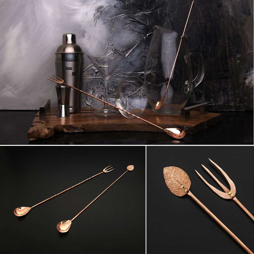 COPPER COLLECTION    (Serving Pieces and Barware)