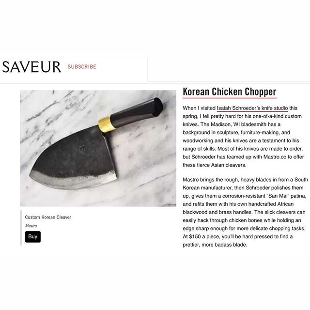 Thank you @saveurmag and  @schroederknifeworks
