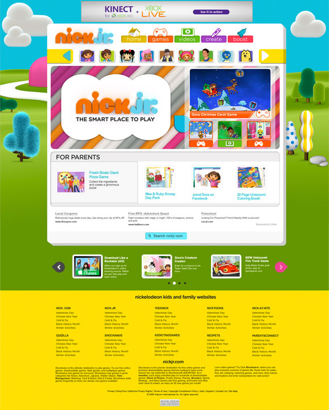 nickjr web 2013 — anna tsalopoulos portfolio site