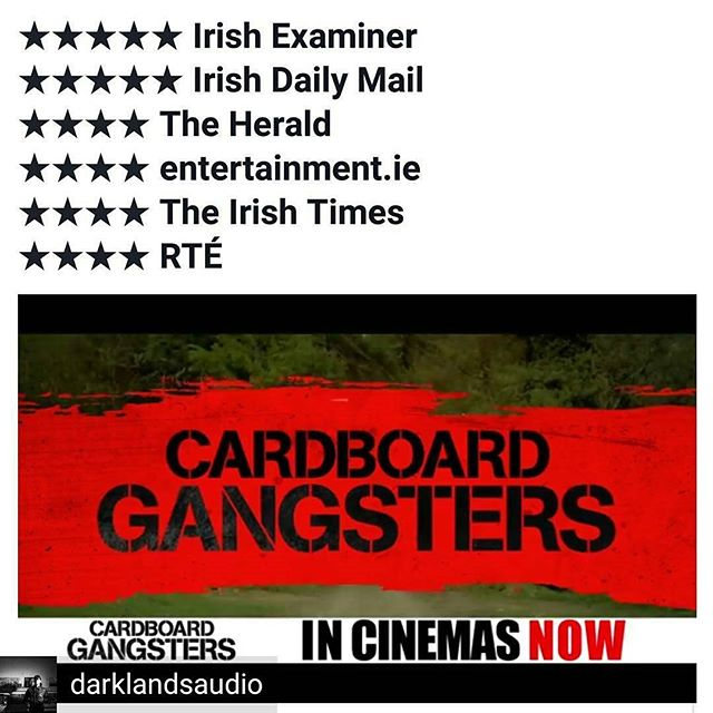 from @darklandsaudio -  #cardboardgangsters OUT NOW IN CINEMAS ACROSS IRELAND The reviews have been great please go see it, support #irishfilm #independentmovie #independentfilm #irishcinema #irishmusic  Original #filmscore written & recorded here @Darklandsaudio by Dan Doherty  @chocofactorydublin  Also featuring music by @paul_alwright @soundwavelegacy #damiendempsey @t_r_o_m @creativecrime_eire #crimesagainst #jambomusic - #regrann