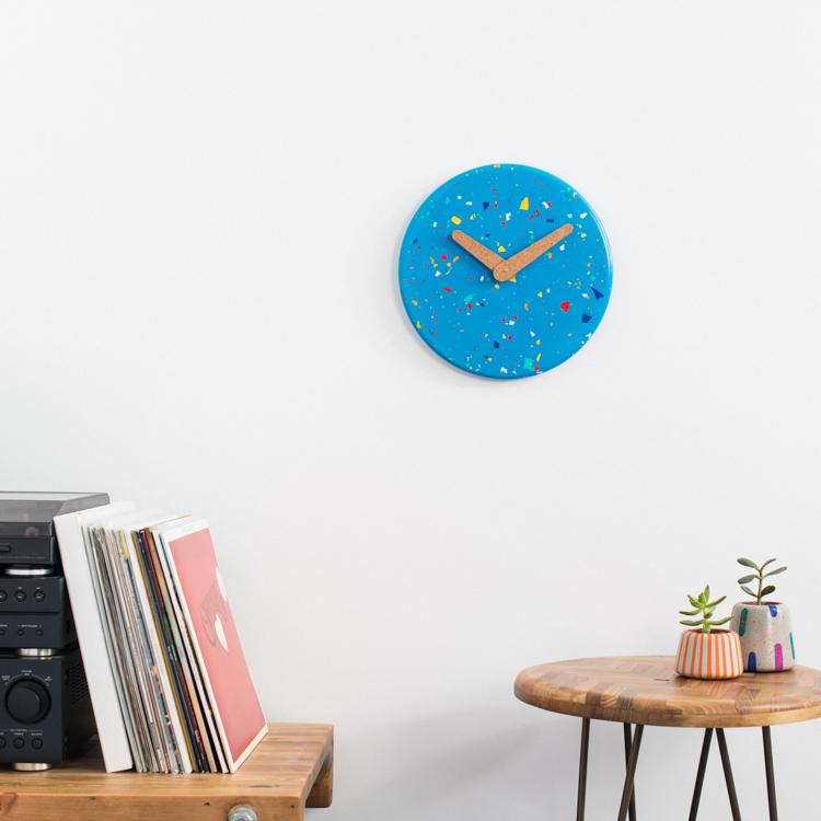 Large Terrazzo Jesmonite Clock.jpg
