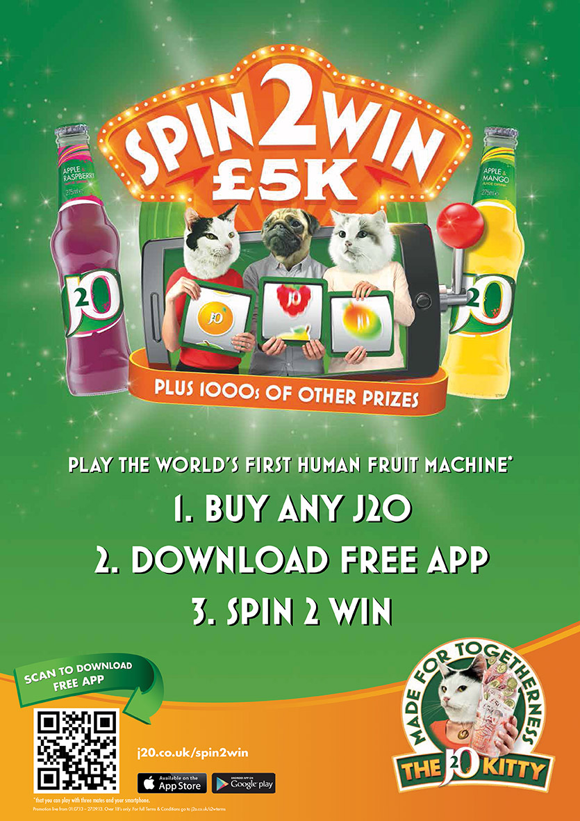 J2o spin to win prizes