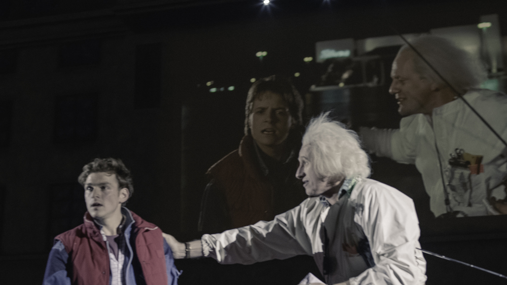 Doc & Marty mirroring the on screen action
