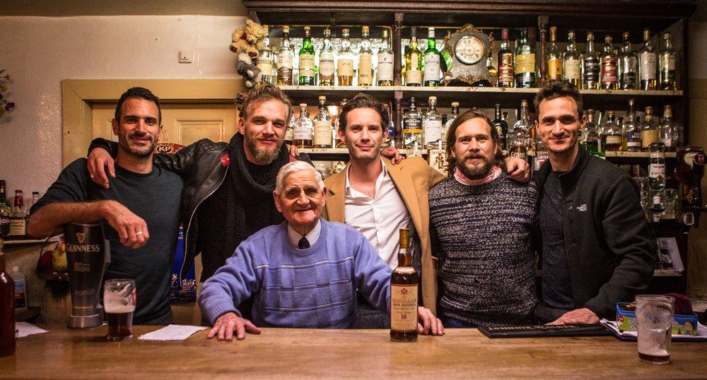 On location filming in the legendary Fiddich Side Inn with Speyside's finest landlord Joe Brandie.