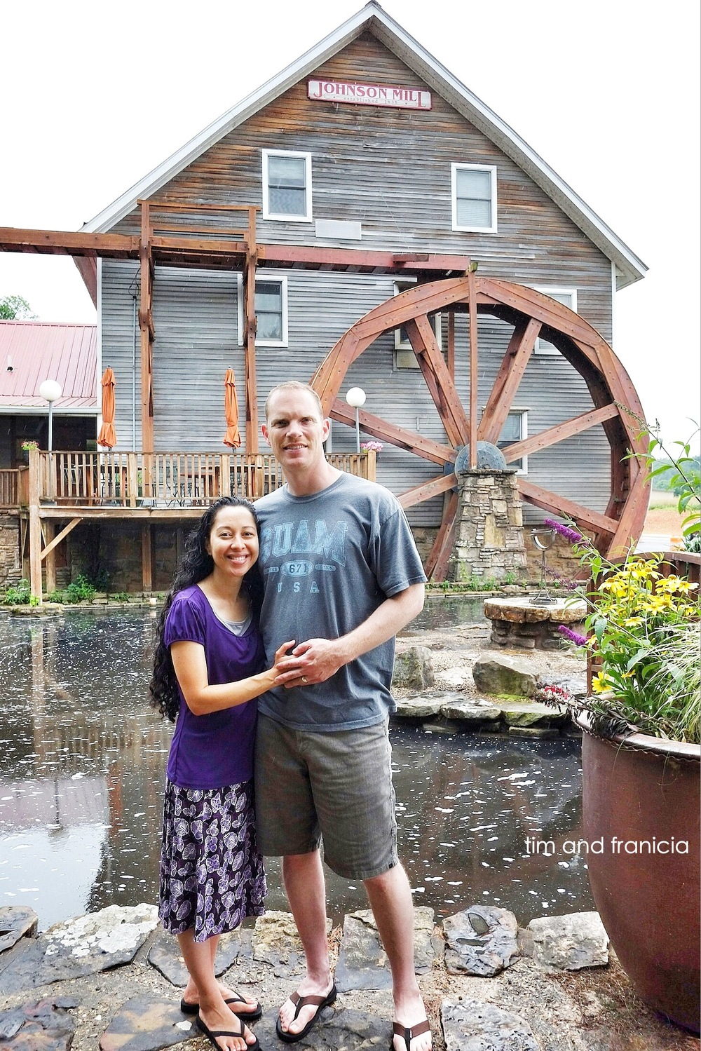 Tim & Franicia at the Inn at the Mill during our June 2014 Arkansas stay