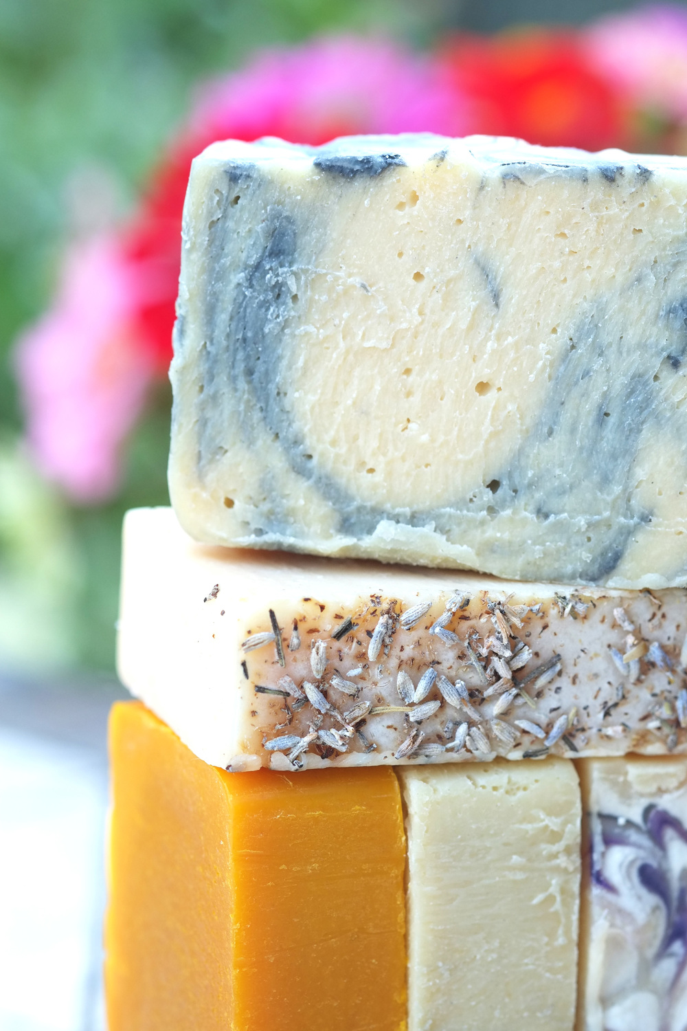 Neem, tea tree, and lavender goat milk soap