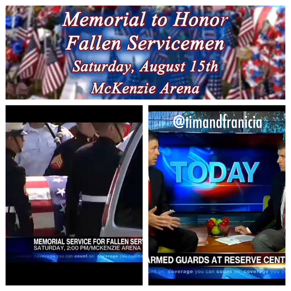 Screenshots of WRCBtv's news video of Chattanooga Memorial Service with Mayor Andy Berke