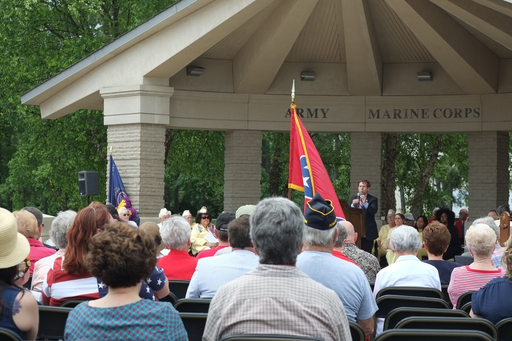 Congressman Chuck Fleischmann speaking at last year's Memorial Day event at the Chattanooga National Cemetery