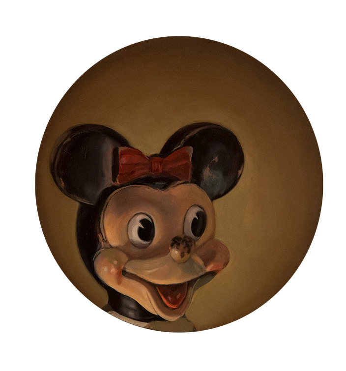 "Megan Marlatt   "" Portrait of Miss Mouse""   Tondo"