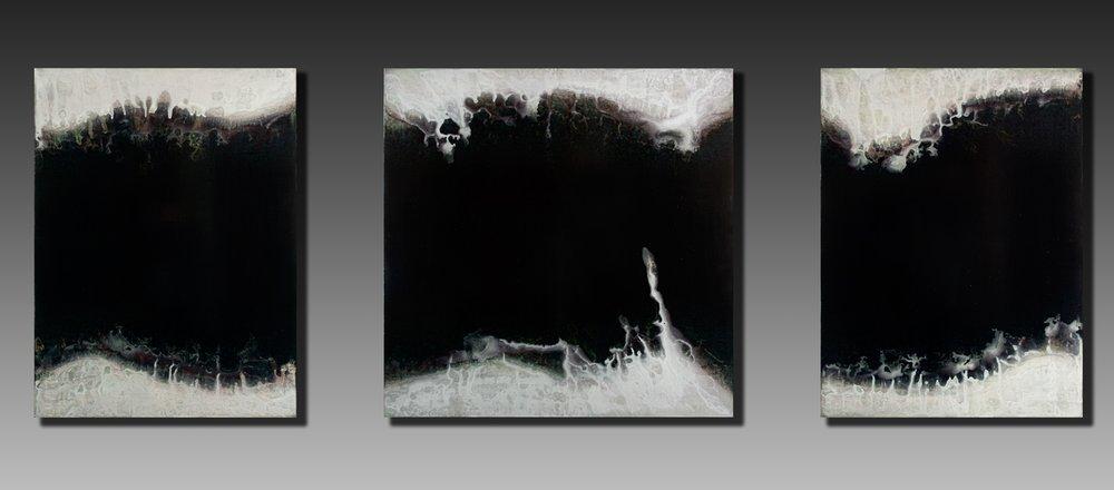 Shaun Whiteside  Gulf (triptych),  Acrylic