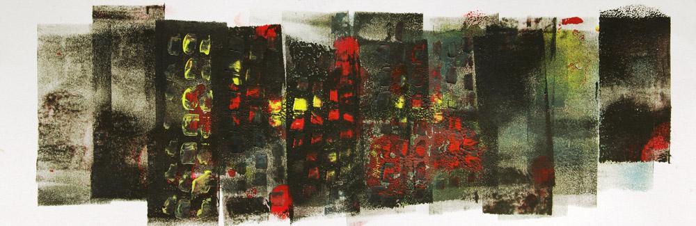 Beirut Monoprint 12x22