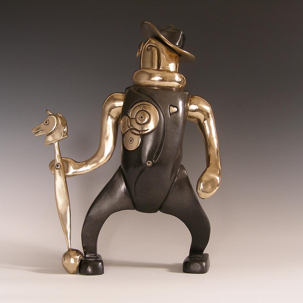 "El Nuevo Caballero  cast bronze  12"" x 10x 5"""
