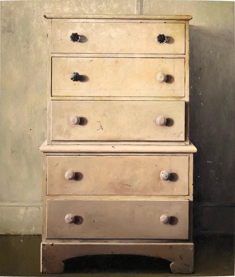 Andrew Shears  Annette's Dresser  oil on canvas