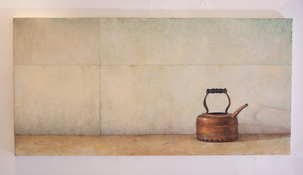 Andrew Shear  Tea Kettle  oil on canvas stretched on board