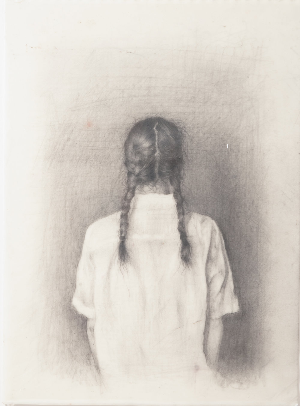 Andrew Shears  Braids  graphite on paper dipped in encaustic wax