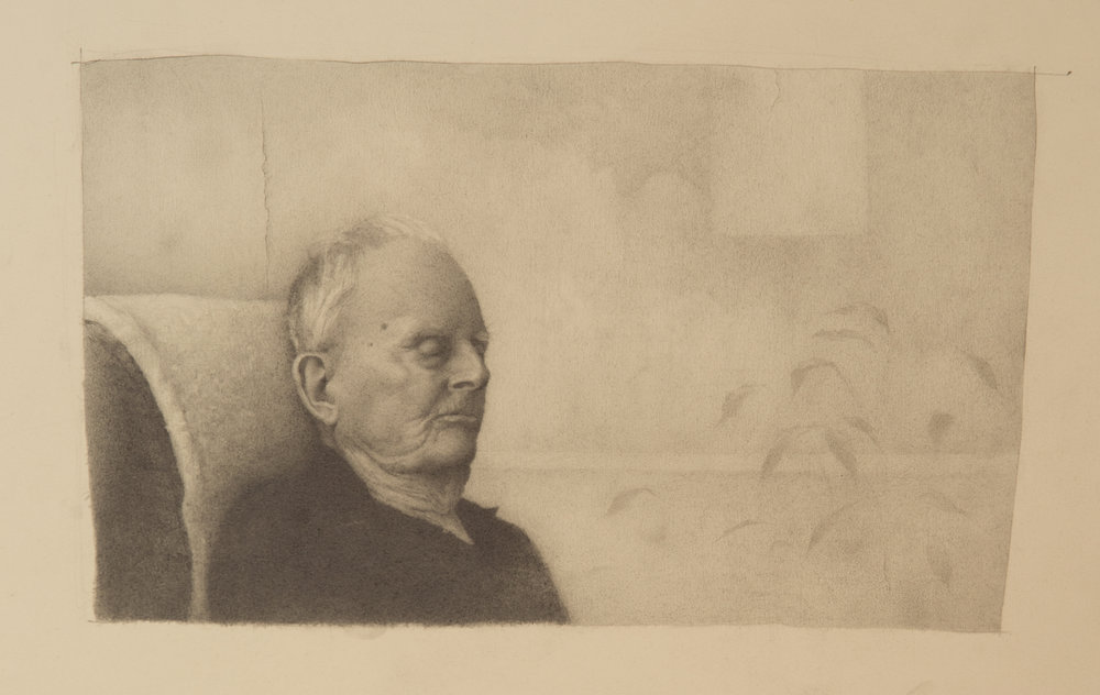 Old Man  ANDREW SHEARS graphite on paper 15.5 x 13 in