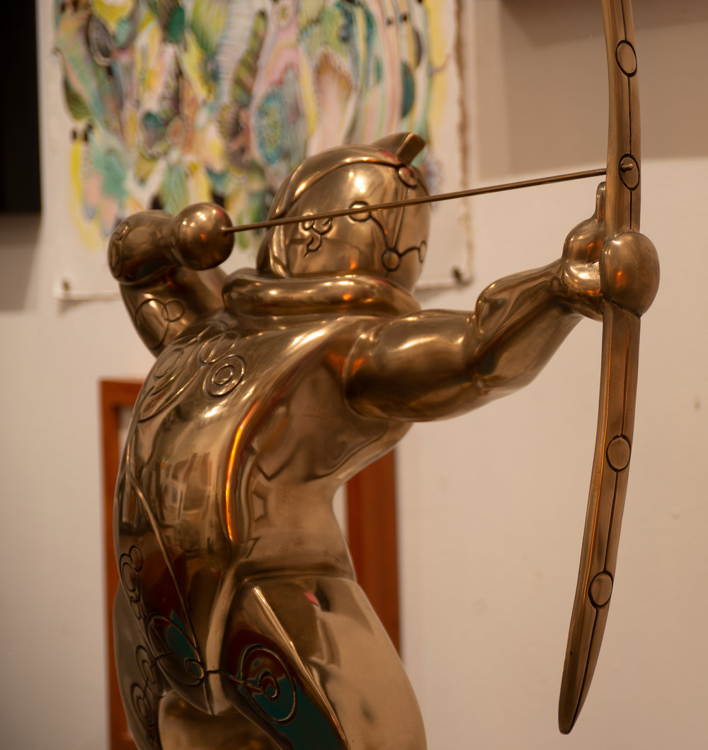 Merrilee Cleveland  , Orion , ca. 2017, Cast Bronze, 27 × 10 × 27 in