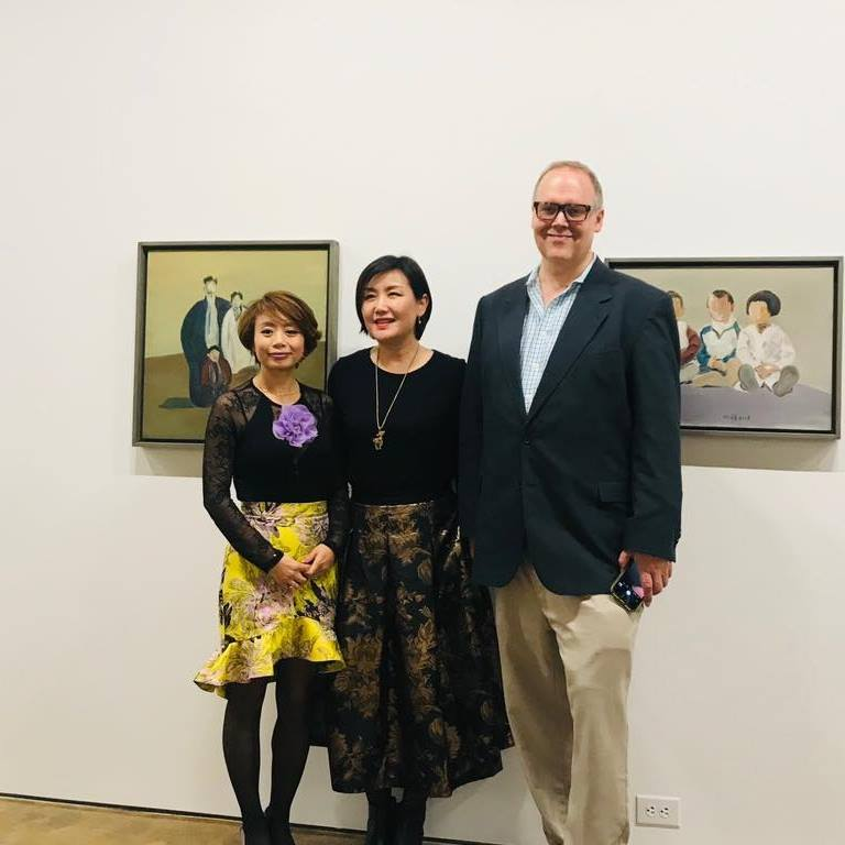 Baylee Wang, Xiaofei Gao, and Lee Matney at the Opening Reception