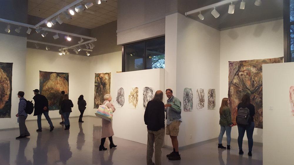 Pillars of Dust , opening reception, Chicago, 2018