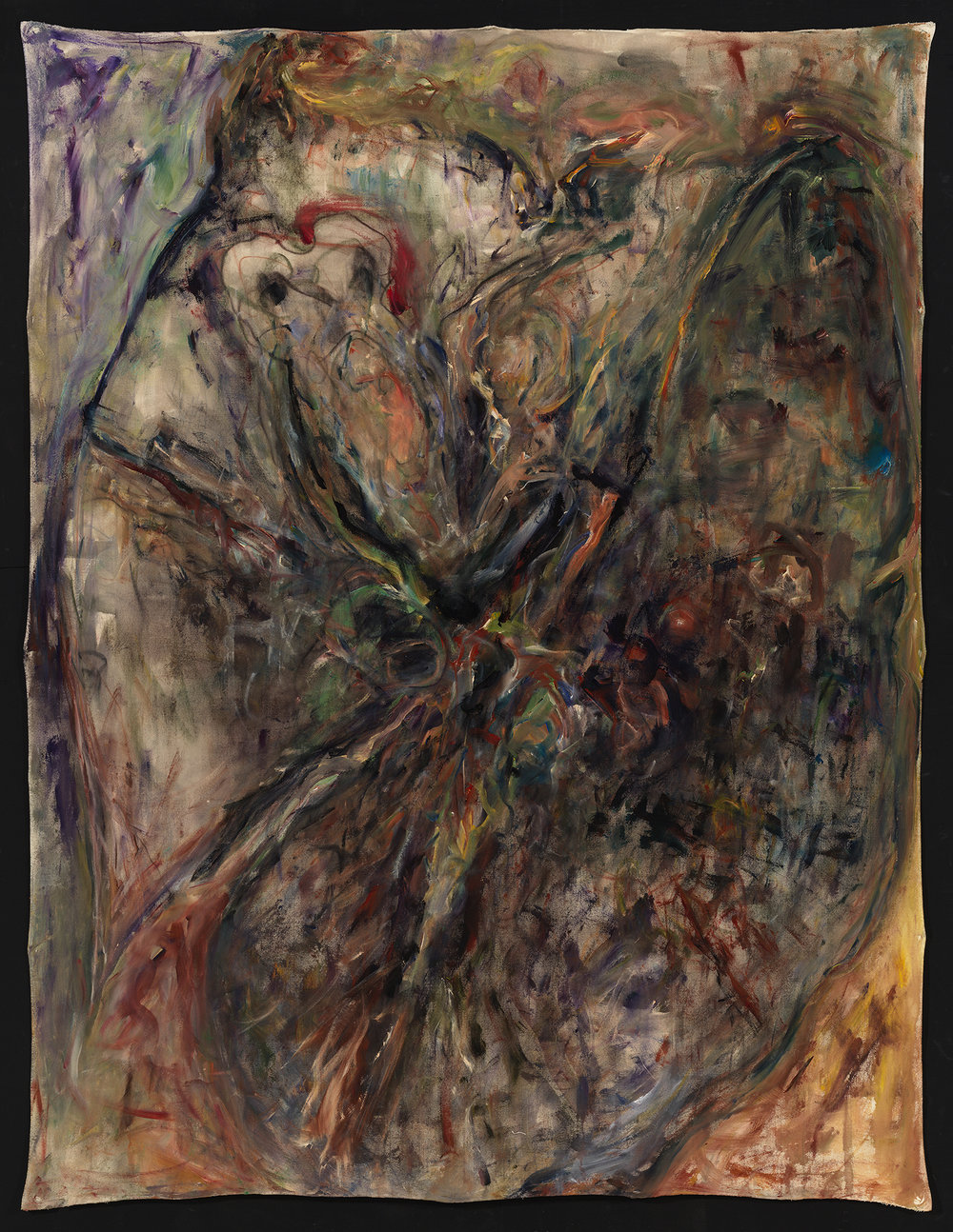 Pillar of Dust #6 , 2018  Chalk, charcoal, gesso and acrylic on canvas  96 × 72 in