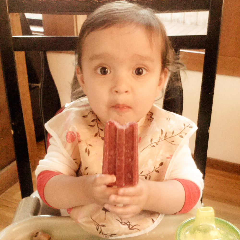 BabyM's first popsicle, June 2014. How sad would it be to lose this photo?