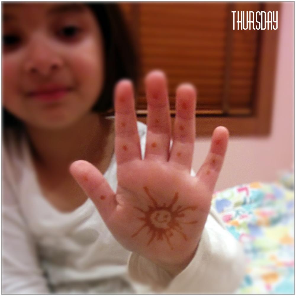 diwali celebration at school, with henna!