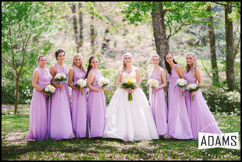 AND THE BRIDESMAIDS...GORGEOUS IN LAVENDER!