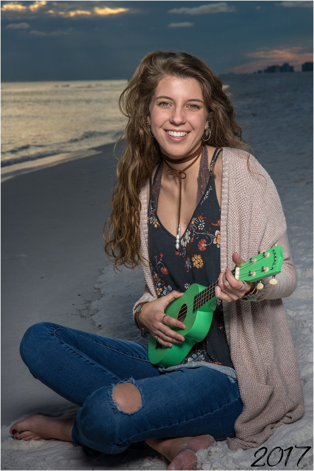 ukulele senior photos