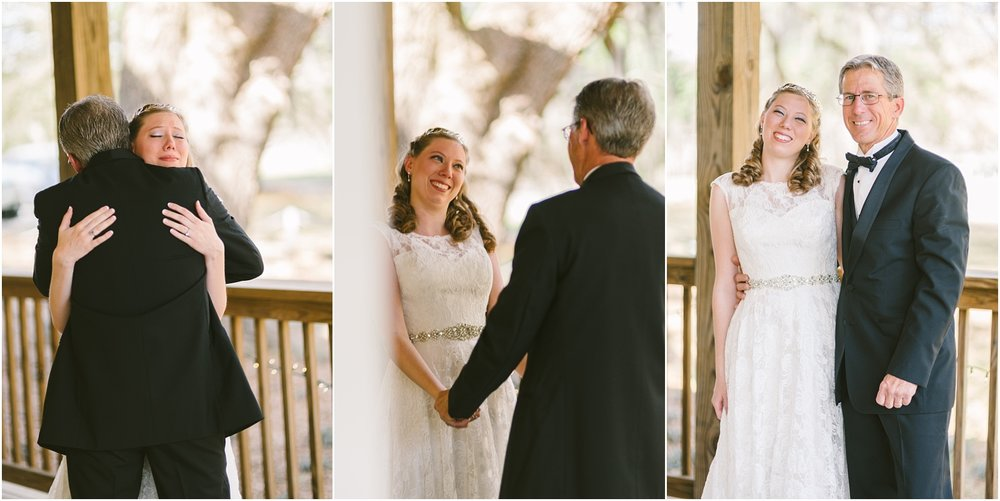 That father/daughter first look! Sometimes ya just have to keep shooting through your tears. So precious!